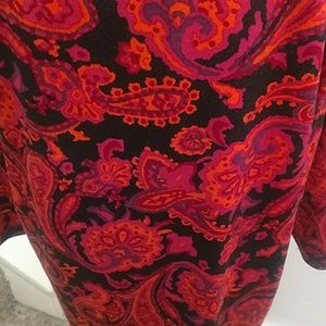 NY Collection Dresses - NY Collection 2X Dress Paisley Print